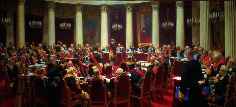 Торжественное заседание Государственного Совета 7 мая 1901 года в честь столетнего юбилея со дня его учреждения. 1903. Илья Ефимович Репин