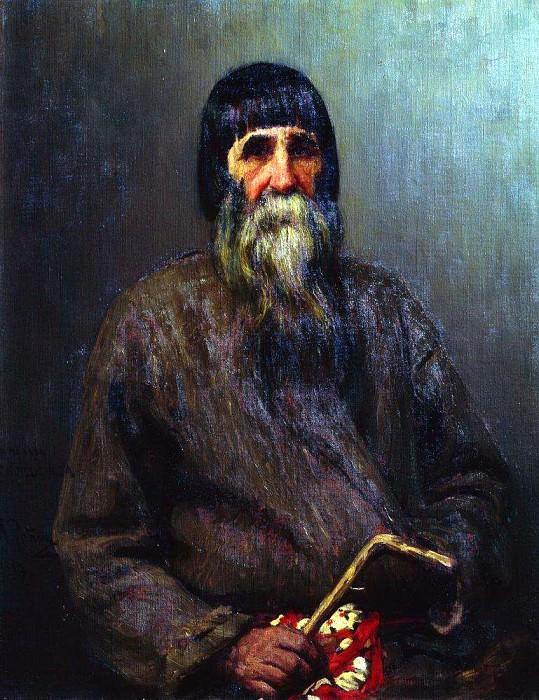 Portrait of a peasant. 1889. Ilya Repin