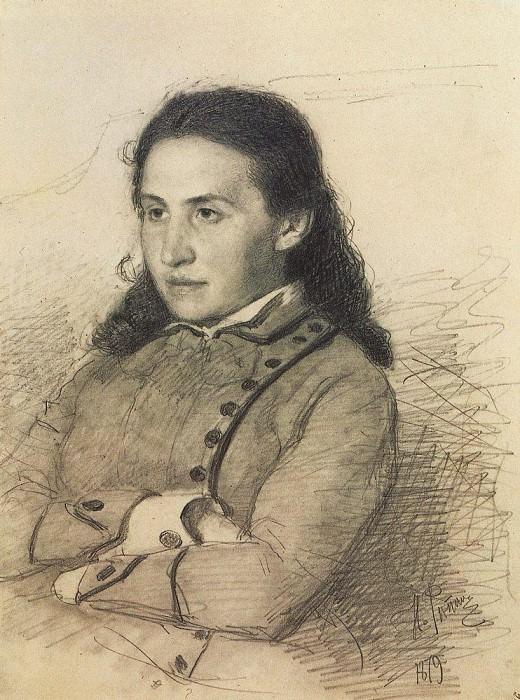 Portrait EG Mamontova. 1879. Ilya Repin