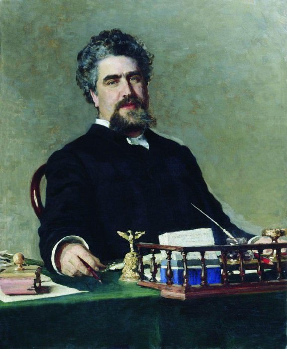 Portrait of Ivan Evgrafevicha Adadurov. 1884-1885. Ilya Repin