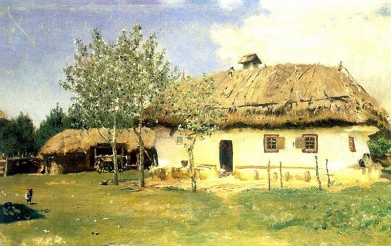 Ukrainian hut. 1880. Ilya Repin
