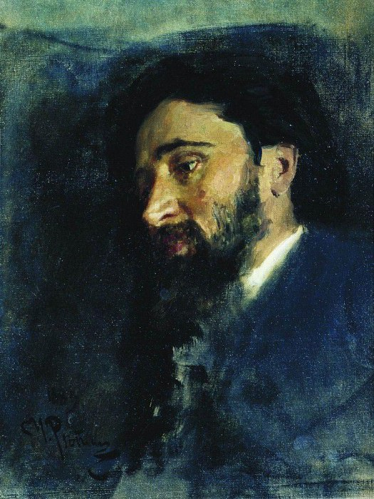 Portrait of the writer VM Garshin. 1883. Ilya Repin