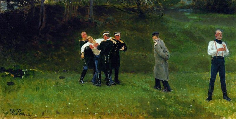 Duel. 1897. Ilya Repin