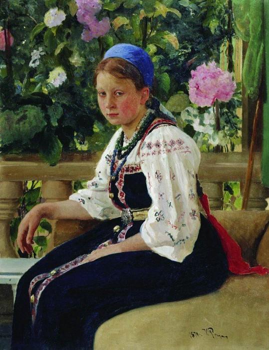 Portrait SF Mamontova. 1879. Ilya Repin