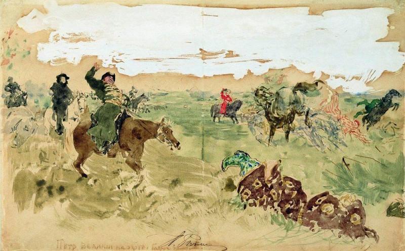 Петр Великий на охоте. Илья Ефимович Репин