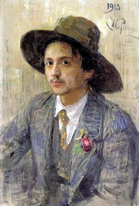 Portrait of the Artist I. Brodsky. 1913. Ilya Repin