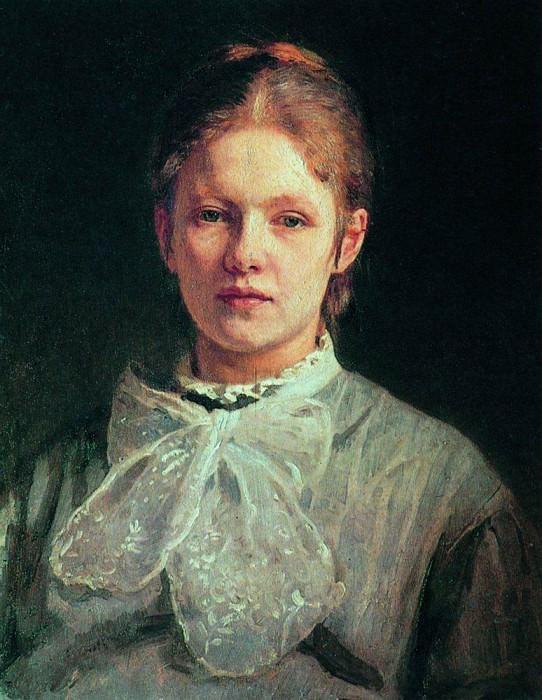 Portrait SA Repina, nee Shevtsova. Ilya Repin