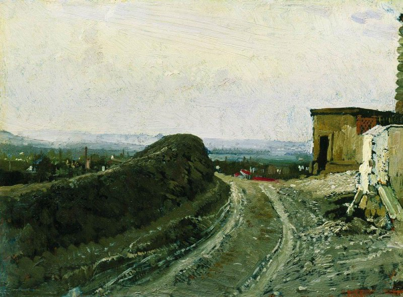 Road to Montmartre in Paris. 1875-1876. Ilya Repin