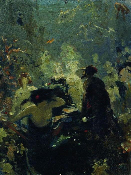 Sadko in the underwater kingdom. 1875. Ilya Repin
