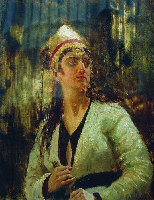 Женщина с кинжалом. 1870-е. Илья Ефимович Репин