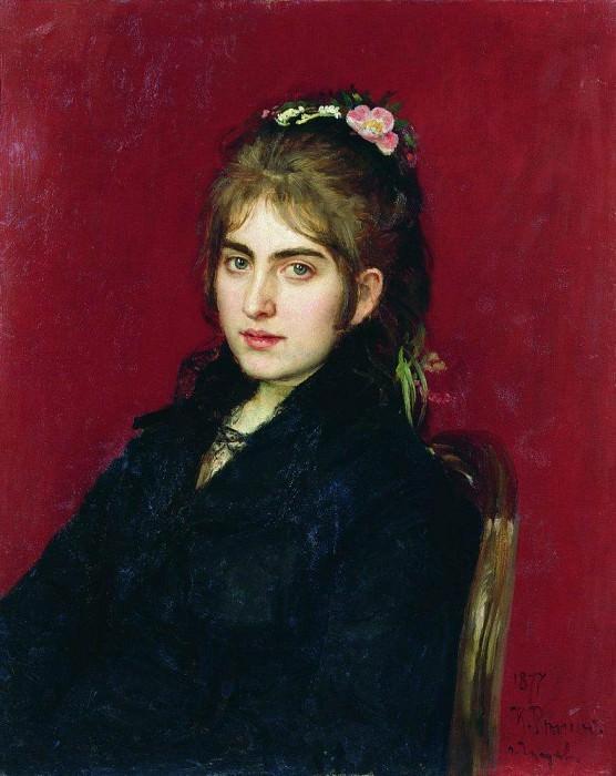 Portrait of a resident Chugueva SL Lyubitskoy. 1877. Ilya Repin