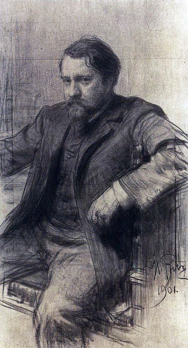 Portrait of the artist Valentin Serov. 1901. Ilya Repin