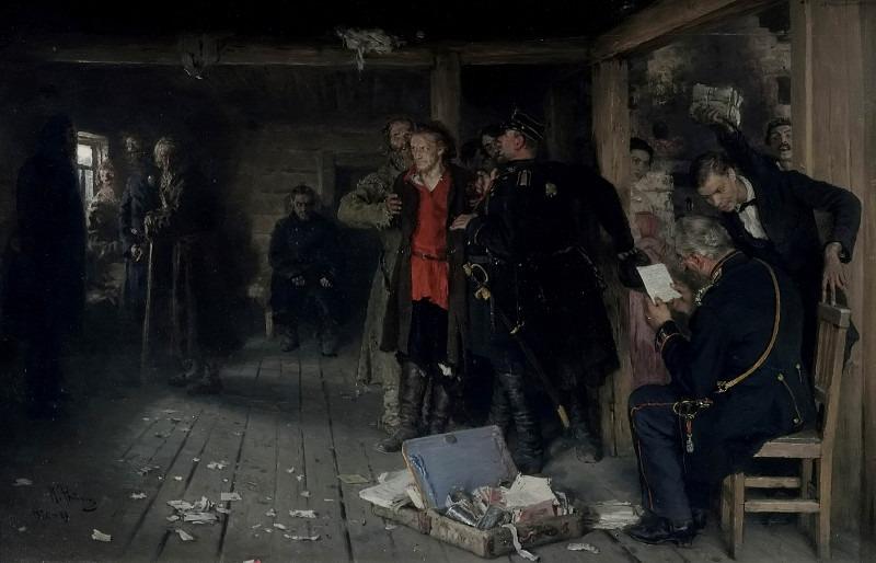 Arrest advocate. 1880-1889, 1892. Ilya Repin