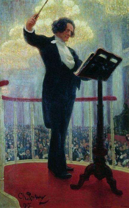 Портрет Антона Григорьевича Рубинштейна. 1909-1915. Илья Ефимович Репин