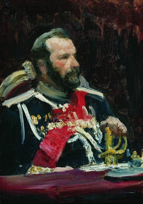 Portrait of General A. Kuropatkin. 1903. Ilya Repin
