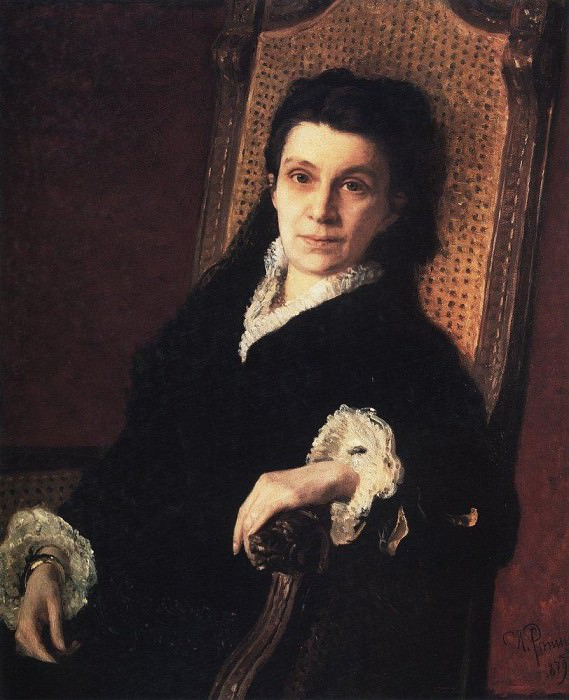 Portrait of a public figure PS Stasova, wife of D. Stasova. 1879. Ilya Repin
