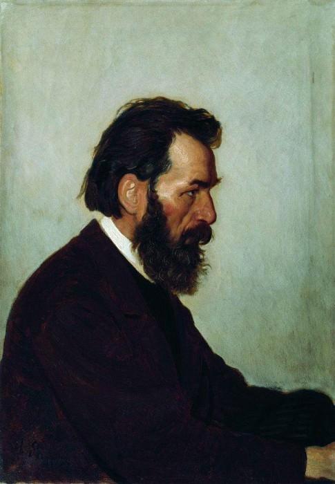 Portrait AI Shevtsova. 1869. Ilya Repin