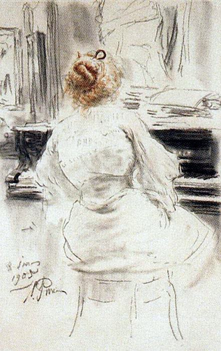 For piano. 1905. Ilya Repin
