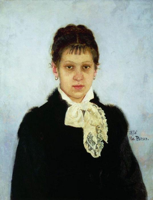 VA Repina. 1876. Ilya Repin