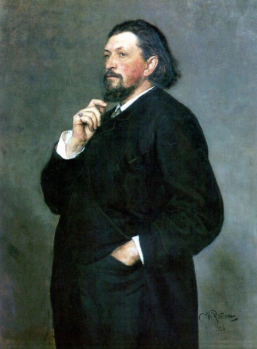 Portrait of a musical figure MP Belyaev. 1886. Ilya Repin