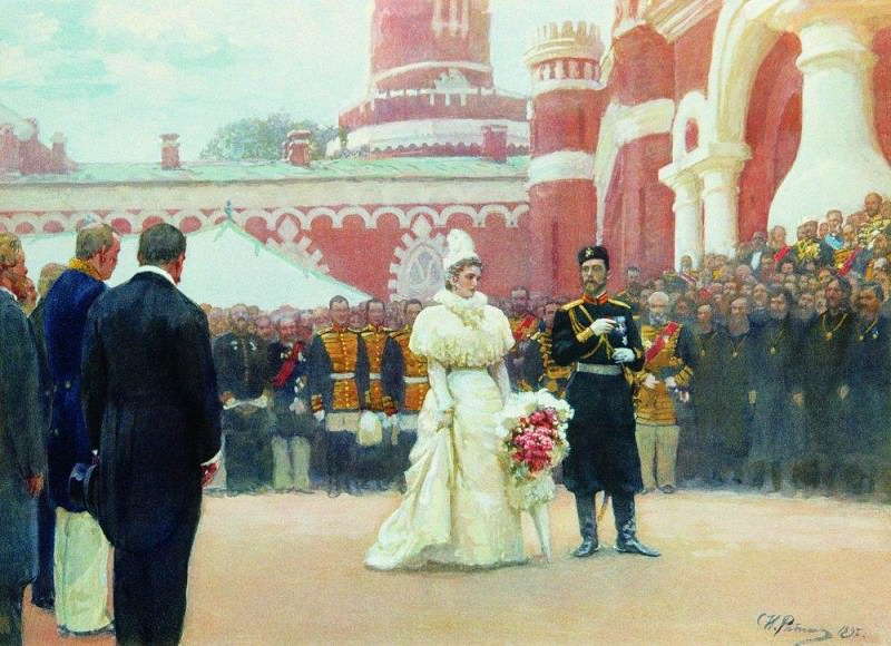 speech of His Imperial Majesty May 18, 1896. 1897. Ilya Repin