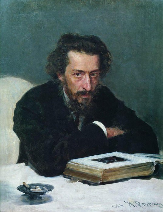 Portrait of the composer PI Blaramberga. 1884. Ilya Repin