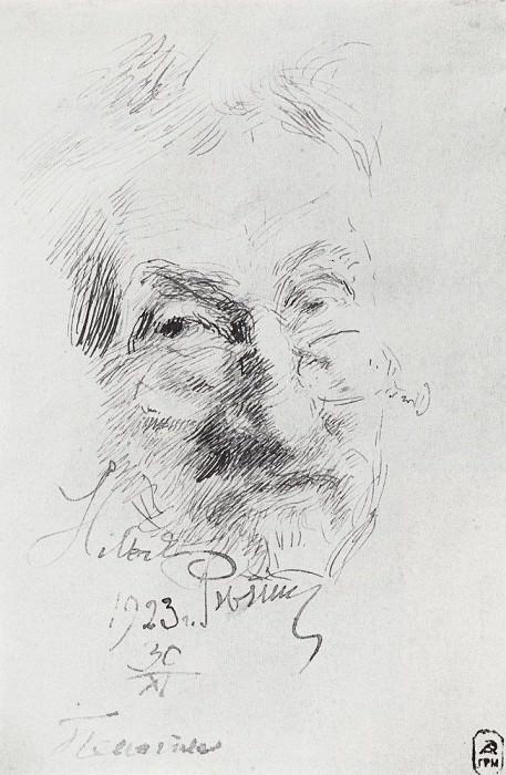 Self-portrait. 1923. Ilya Repin