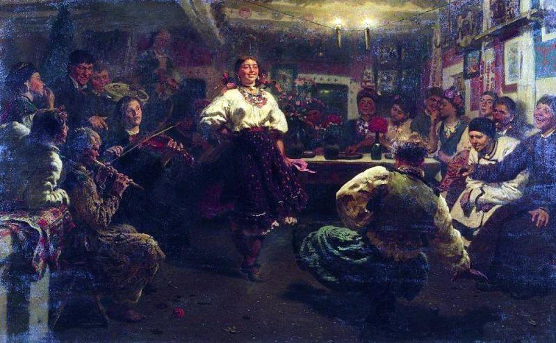 Vechornitsi. Ilya Repin