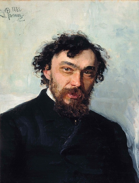 Portrait of the Artist Ivan P. Pohitonova. 1882. Ilya Repin