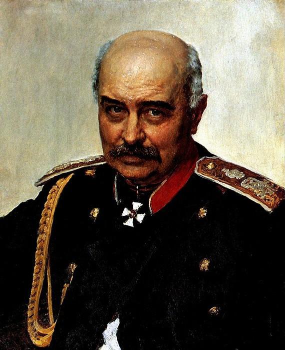 Portrait MI Dragomirov. 1889. Ilya Repin