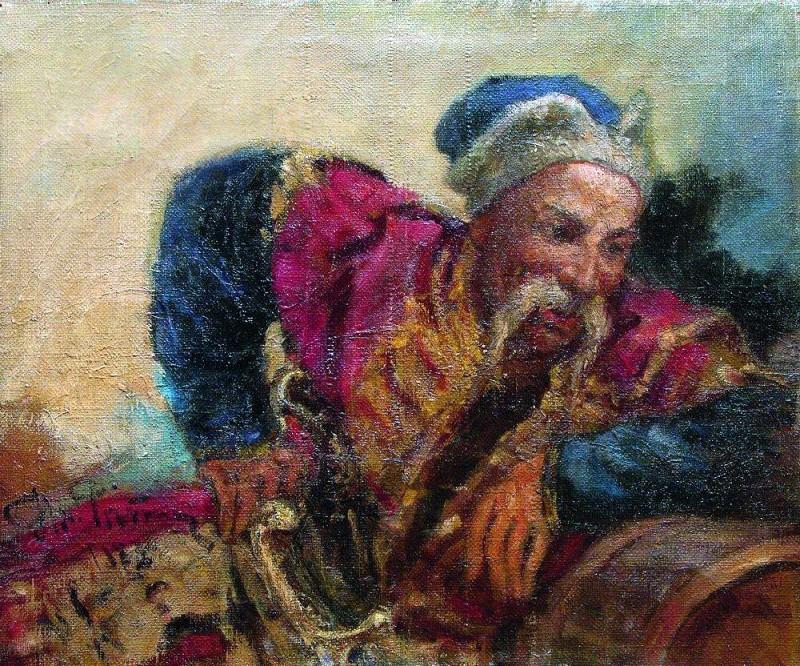Kazak (Ataman Circo). 1889. Ilya Repin
