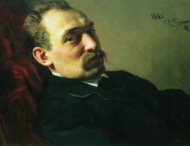 Portrait of the architect Philip Dmitrievich Hloboschina. 1868. Ilya Repin