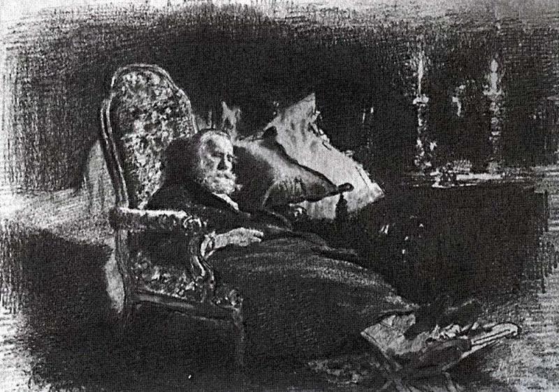 Death of Fyodor Vasilyevich Chizhova1. 1877. Ilya Repin