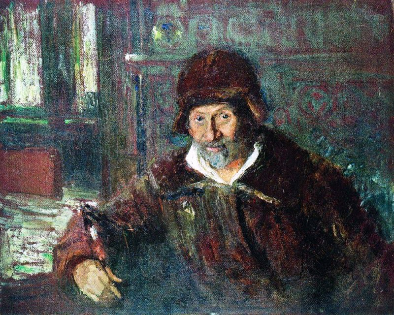 Self-portrait. 1920. Ilya Repin