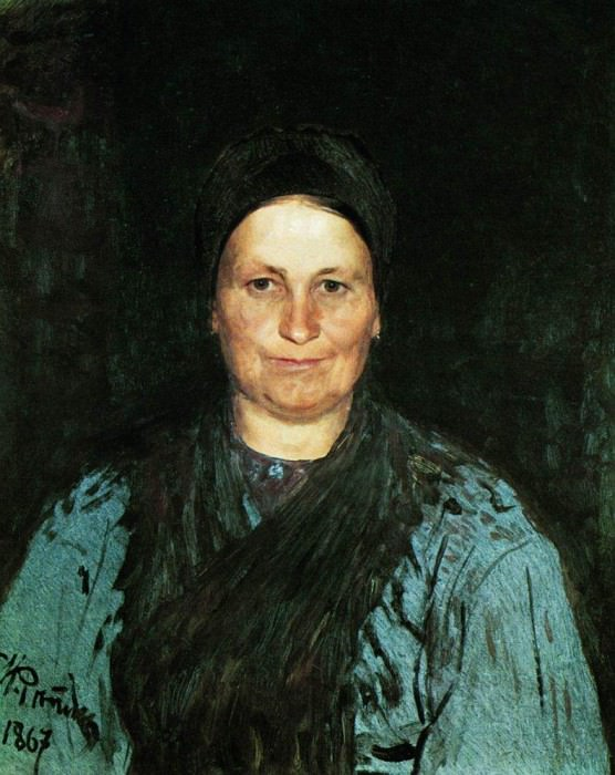 Portrait of the artists mother, TS Repina. 1867. Ilya Repin