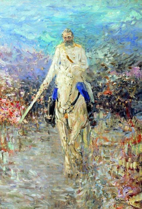 Equestrian portrait. 1913. Ilya Repin