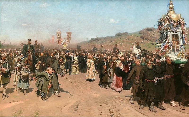 Крёстный ход в Курской губернии. Илья Ефимович Репин