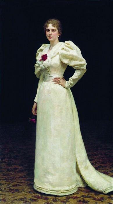 Portrait LP Steinheil. 1895. Ilya Repin