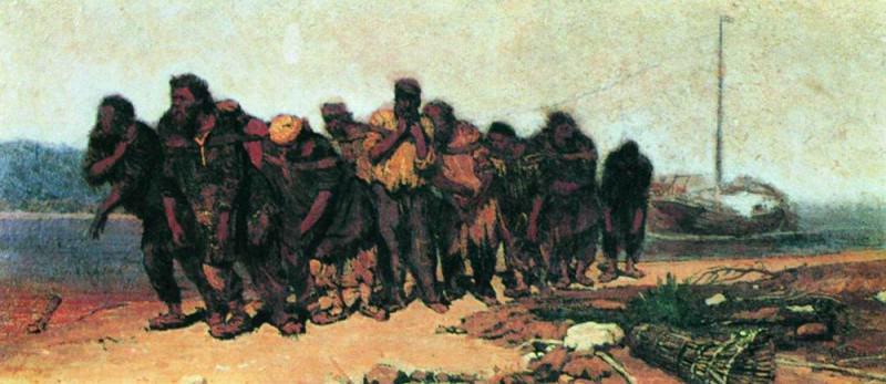 Volga Boatmen 2. 1870. Ilya Repin