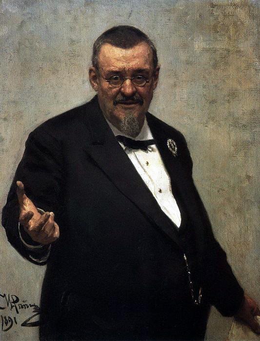 Портрет юриста В. Д. Спасовича. 1891. Илья Ефимович Репин