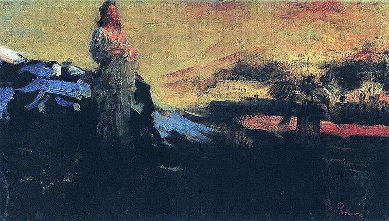 Go behind me, Satan!. 1891. Ilya Repin