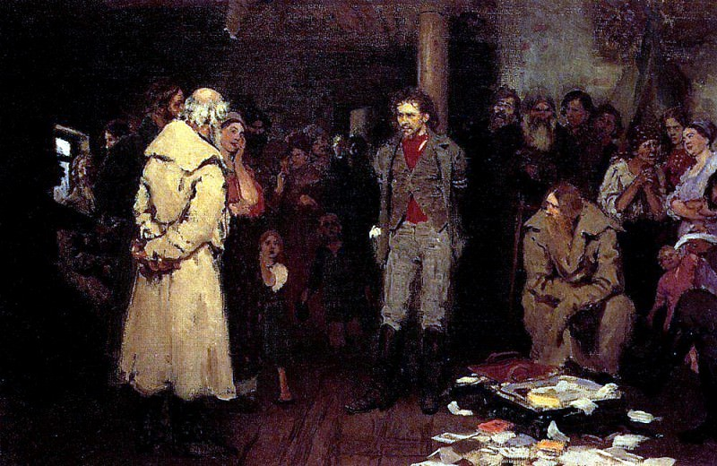 Propagandist Under Arrest. 1878. Ilya Repin