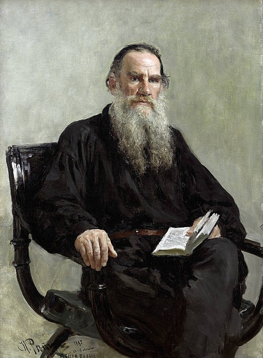 Portrait of the writer Lev Tolstoy. Ilya Repin