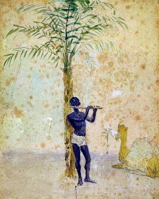 African motif. Ilya Repin