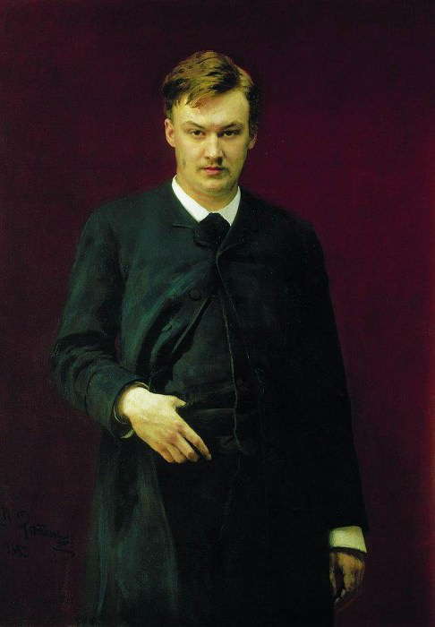 Portrait of the composer Alexander Glazunov. 1887. Ilya Repin