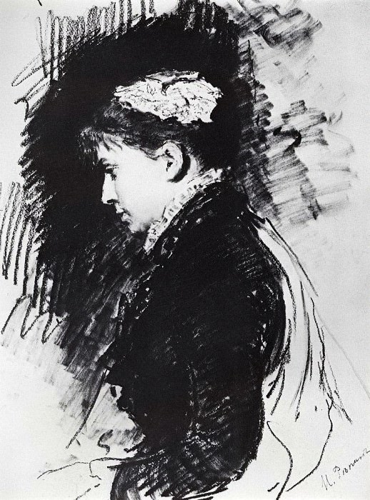 Portrait ED Batashev. 1891. Ilya Repin