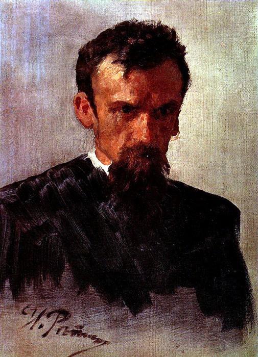 Head of a Man. Ilya Repin