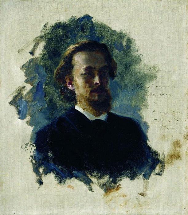 Head of a Man. 1882. Ilya Repin