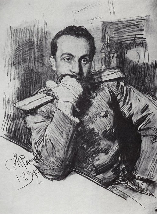 Portrait VA Zhirkevicha. 1891. Ilya Repin