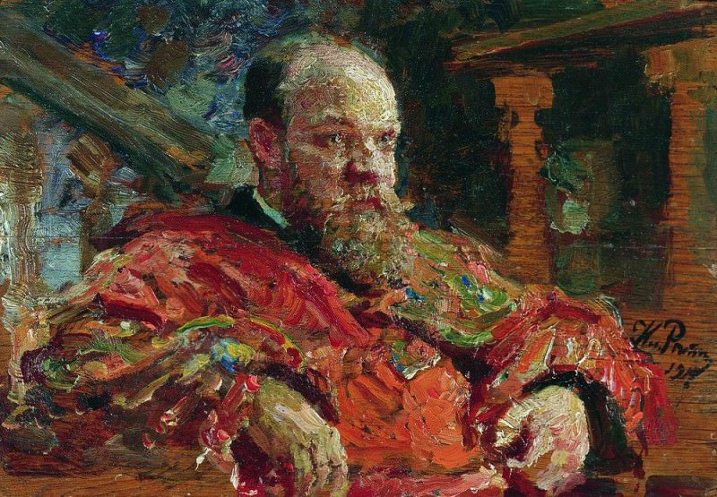 Portrait NV Delyarova. Ilya Repin